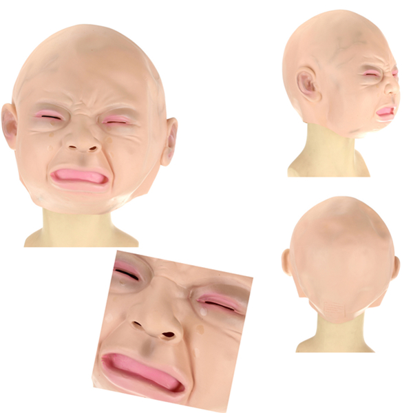 Adult Lady Crying Kids Face Mask Maleficent Latex Mask
