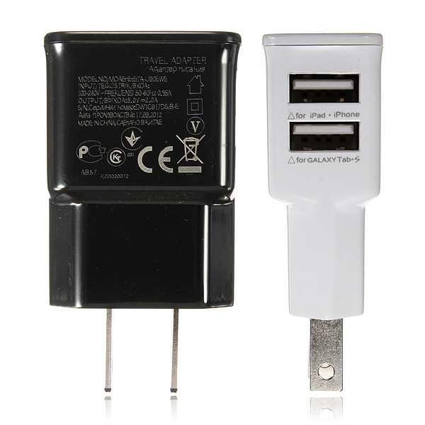 Buy 2 Dual Usb Ports Us Plug Charger Adapter For Iphone