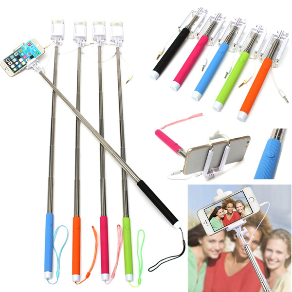 buy extendable handheld wired selfie stick for iphone 6 6 plus samsung lg. Black Bedroom Furniture Sets. Home Design Ideas