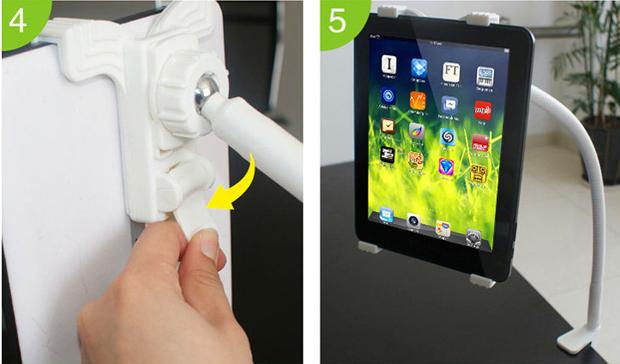 K 248 B Fleksibel Drejeligt Lazy Bed Tablet Holder Stativ Til