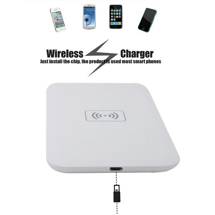 buy protable qi transmitter wireless charger pad for iphone6 smartphone. Black Bedroom Furniture Sets. Home Design Ideas