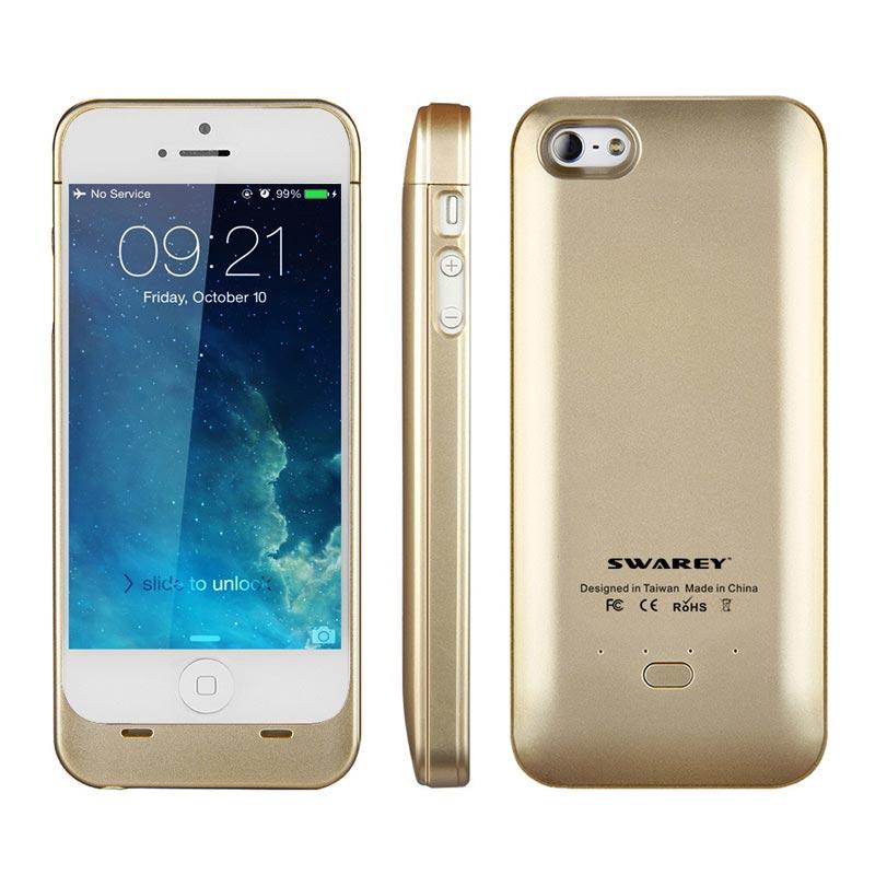 Buy SWAREY MFI 2200mAh Gold External Backup Battery For iPhone 5 5S | BazaarGadgets.com