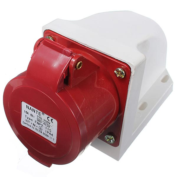 Buy 16amp 5pin Industrial Plug Wall Mount Socket