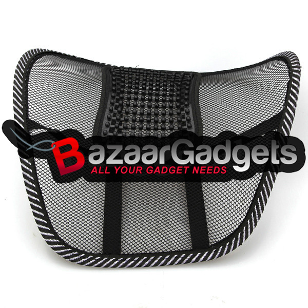 buy car seat chair massage back lumbar support mesh ventilate cushion pad. Black Bedroom Furniture Sets. Home Design Ideas