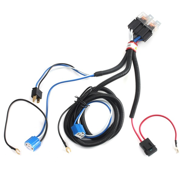 Buy Car H4 9003 Headlight Relay Harness Wire Controller