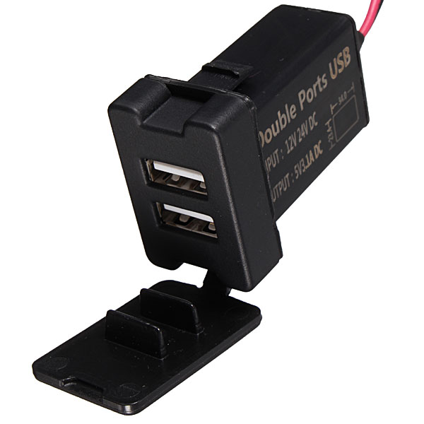 Buy 12 24v Dual Usb Ports Dashboard Mount Car Charger