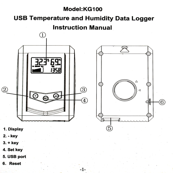 Warehouse Temperature And Humidity Data Logger : Buy professional humidity temperature gauge usb data