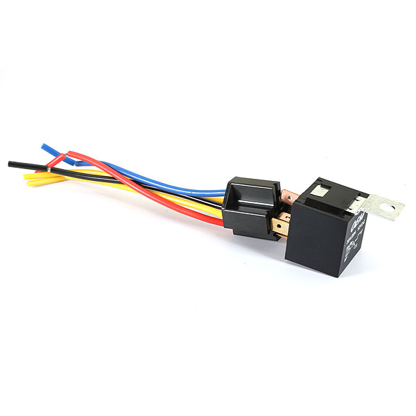 Buy Universal Car Auto Relay Kit Fixed Back 5 Pin Socket 5