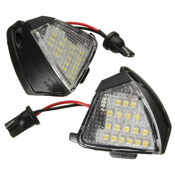 Buy 2pcs Car Led Under Side Mirror Puddle Light For Vw