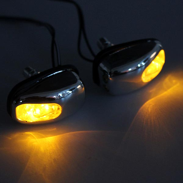 Buy chrome led light lamp windshield jet spray nozzle