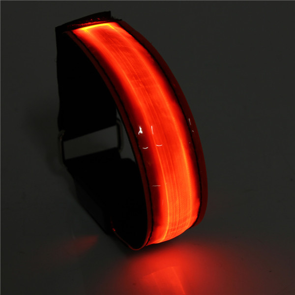 buy 2pcs led reflective arm band belt strap running night. Black Bedroom Furniture Sets. Home Design Ideas