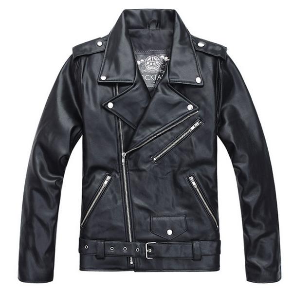 Buy Motorcycle PU Leather Jacket Premium Fashion Retro ...