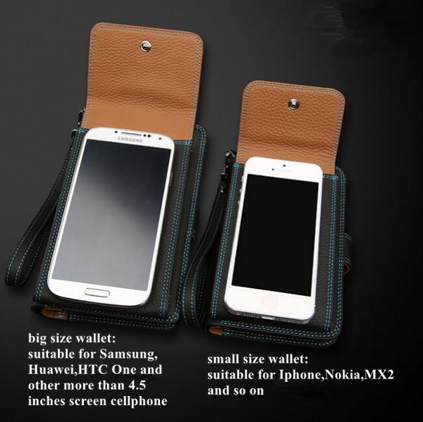 leather with mobile holder wallet card pocket