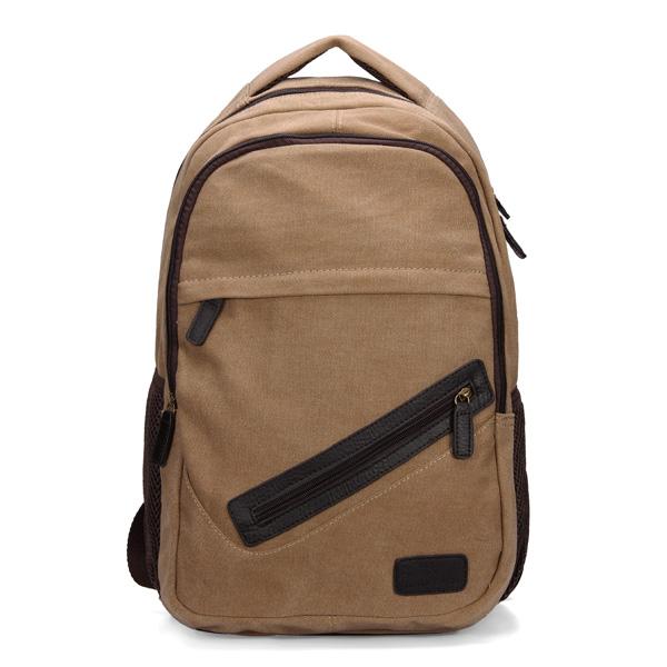 Buy Men Vintage Retro Style Canvas Casual Backpack Laptop Bag