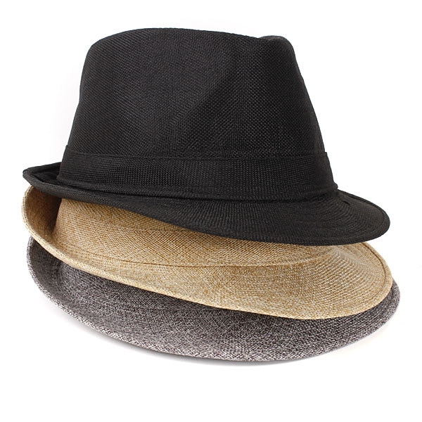 f7f2f6b17a3e1 ... Straw Dress Hats Men  Buy Mens Women Unisex Fedora Hat Trilby Straw  Panama Beach
