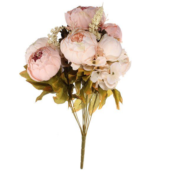 Buy Artificial Peony Bouquet Artificial Silk Flowers Home