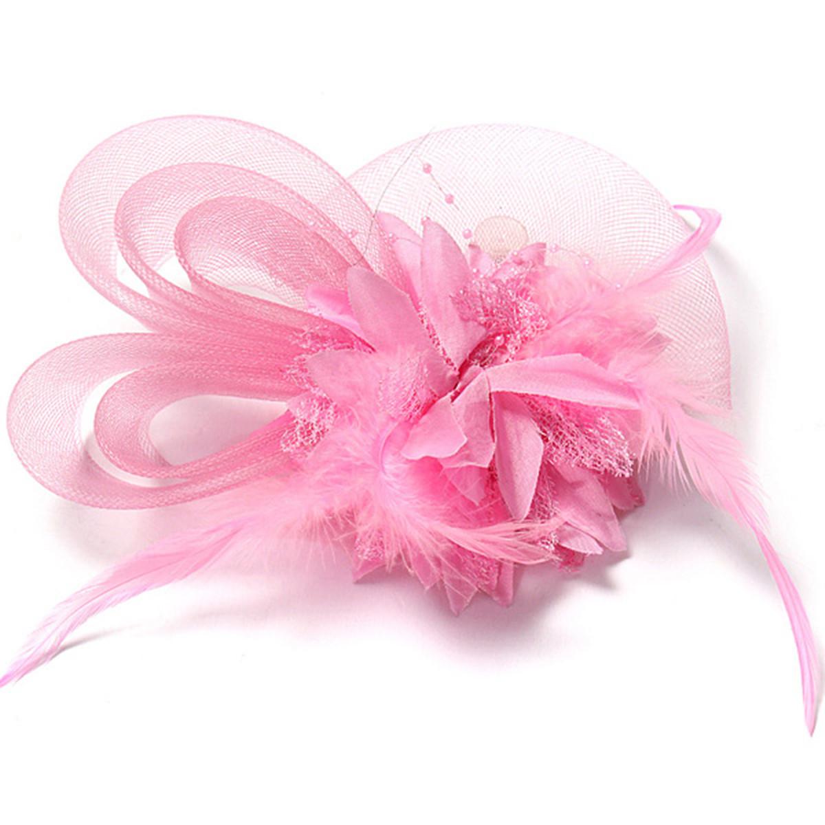 Buy Bridal Wedding Sweet Small Flower Feather Headdress ...