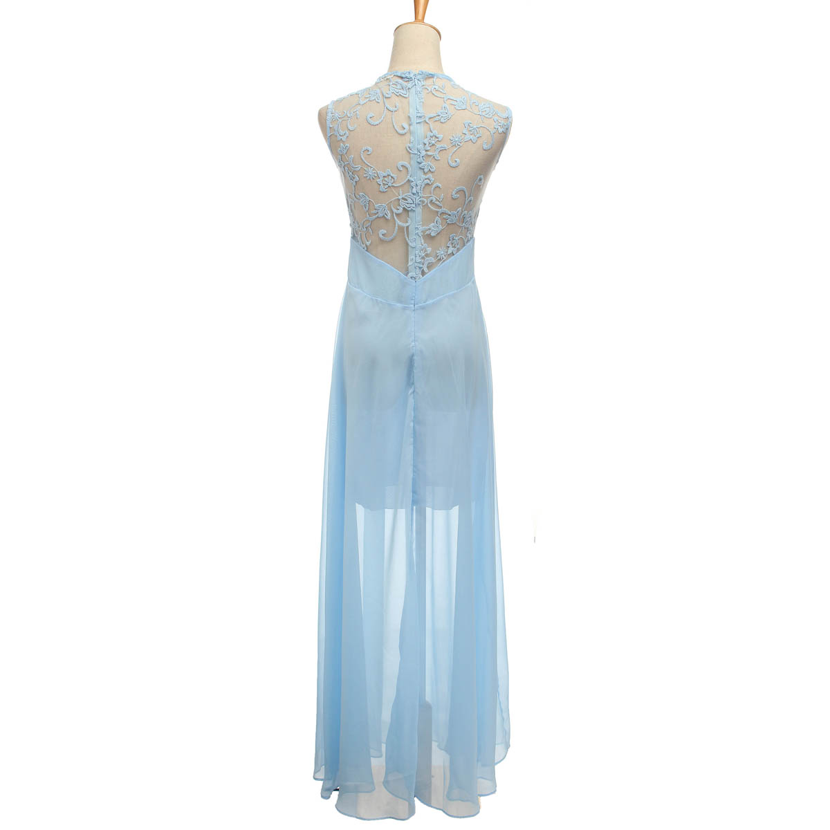Buy bridesmaid dresses lace long formal chiffon party ball for Wedding dresses chiffon lace