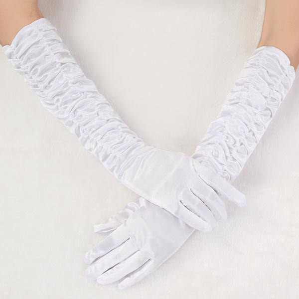 Buy new special wedding dress bridal long finger white for Wedding dress with long gloves