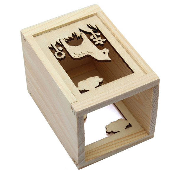 Buy creative learning stationery horse carved hollow wood