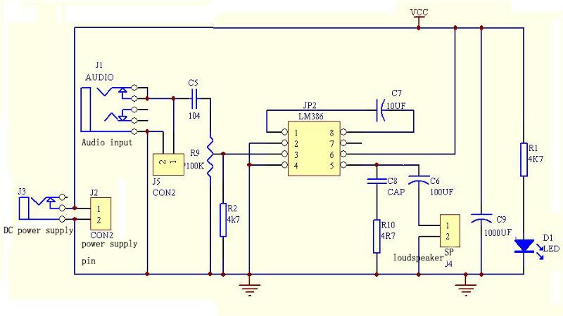 buy lm386 mini dc 3v to 12v amplifier board signal amplifier module bazaargadgets