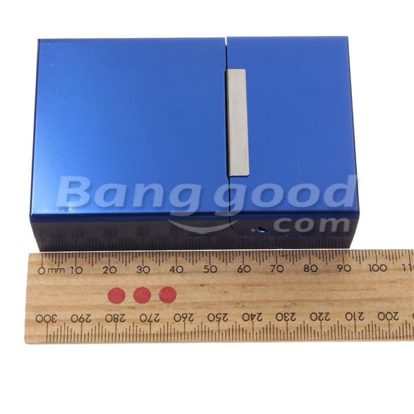 g nstig kaufen magnetische induktion aluminiumtaschen f r 20 zigaretten zigarre tabak h lle. Black Bedroom Furniture Sets. Home Design Ideas