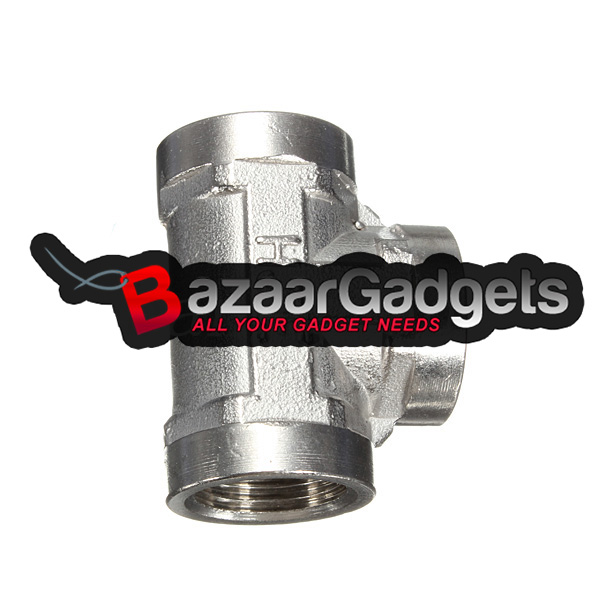 Buy 1 2 Inch Stainless Steel 304 Tee 3 Way Threaded Pipe