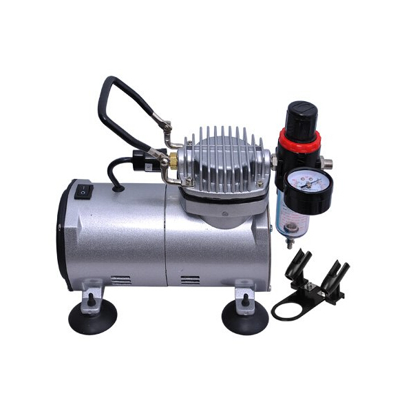 Buy 1 6 hp mini air compressor airbrush set tattoo model for Air compressor for auto painting