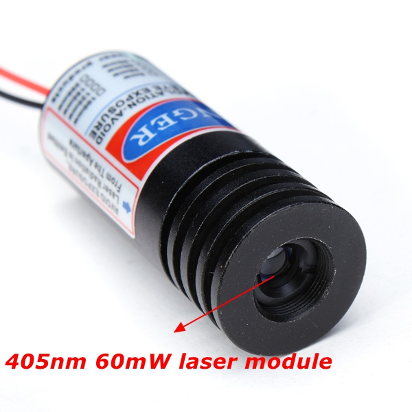 Buy 405nm 60mw Focusable Violet Dot Laser Module Laser