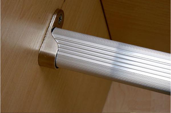 buy aluminum wardrobe clothes rail base clothing rod. Black Bedroom Furniture Sets. Home Design Ideas