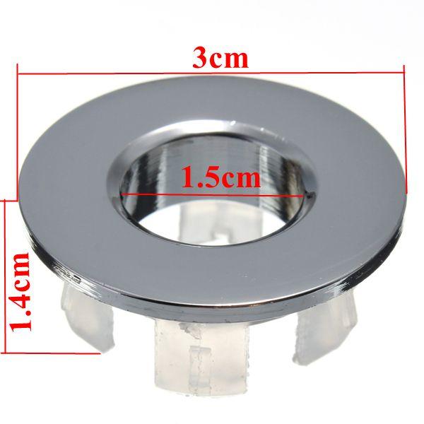Buy Bathroom Sink Basin Chrome Trim Overflow Hole Round