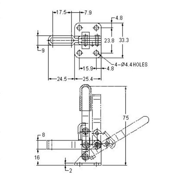 buy 101a 50kg 110 lbs holding capacity vertical toggle