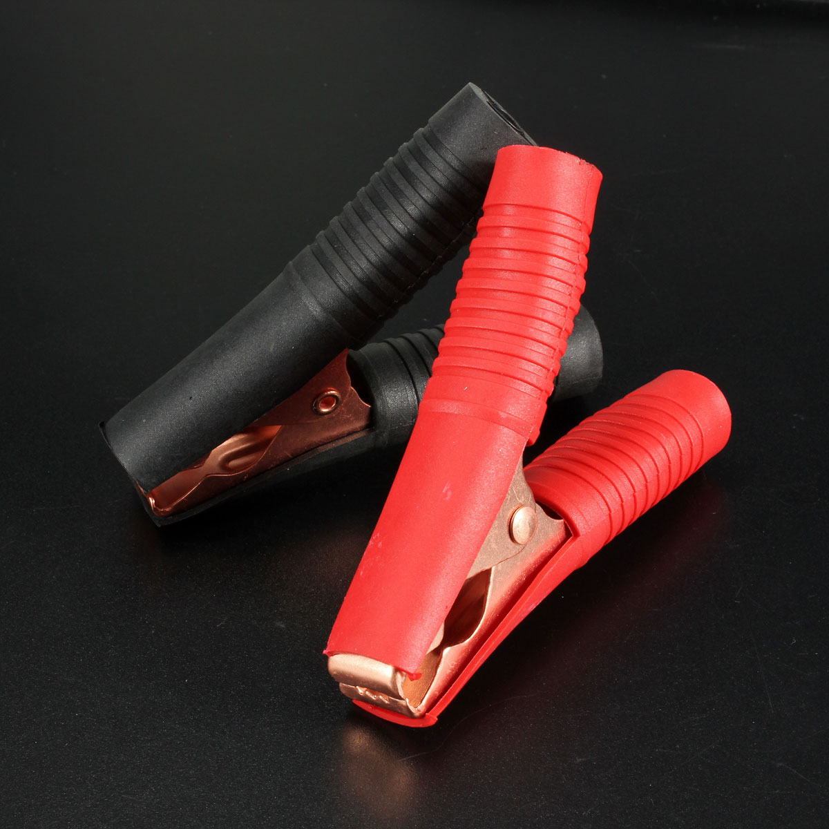 Buy 2pcs Alligator Clip Battery Test Lead Clips 100a Red