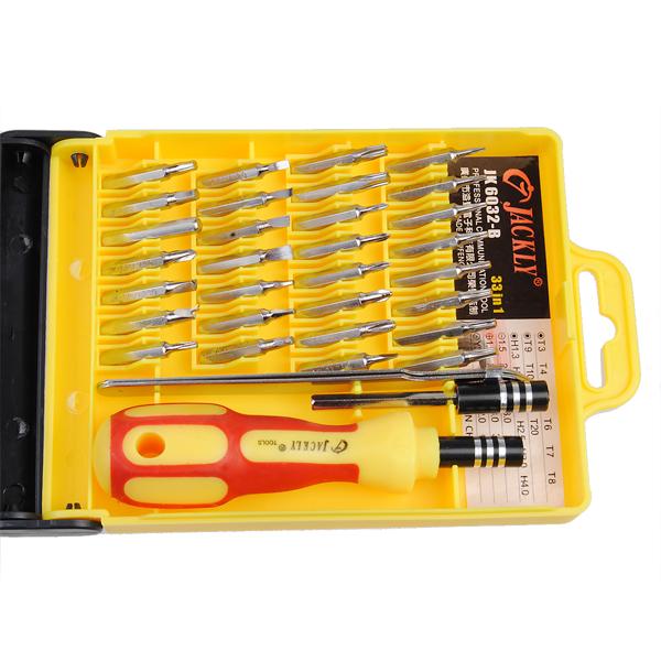 K p jk 6032 b 33 i 1 magnetisk precision skruvmejsel kit for Set de destornilladores
