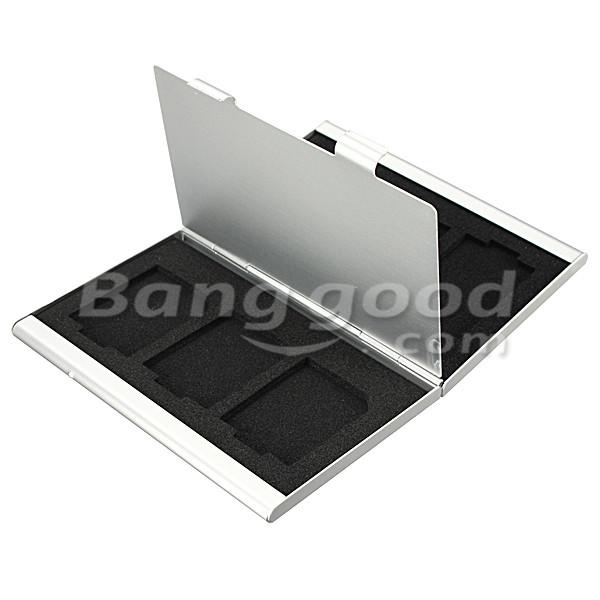 Slots Aluminum Storage Box SD SDHC SDXC MMC Memory Card Case Holder