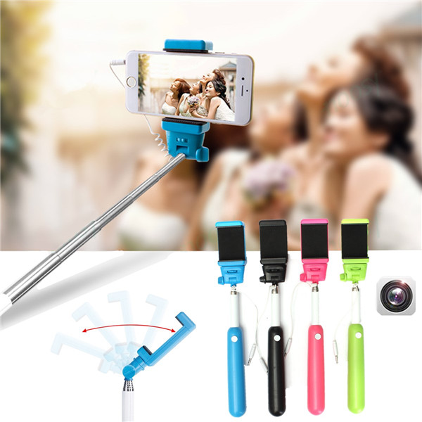buy handheld wire remote control monopod selfie stick with bag for iphone 5c 5 5s 6 6 plus and. Black Bedroom Furniture Sets. Home Design Ideas