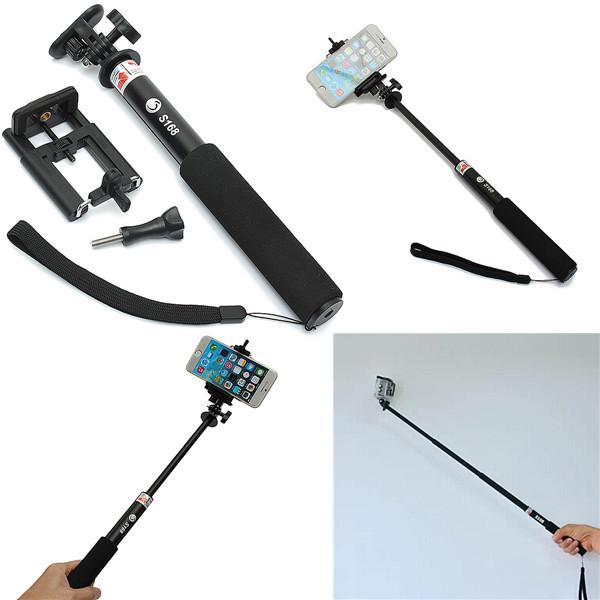 k b s168 3 in1 selfie stick monopod udtr kkeligt telescopic for smart phone gopro sport kamera. Black Bedroom Furniture Sets. Home Design Ideas