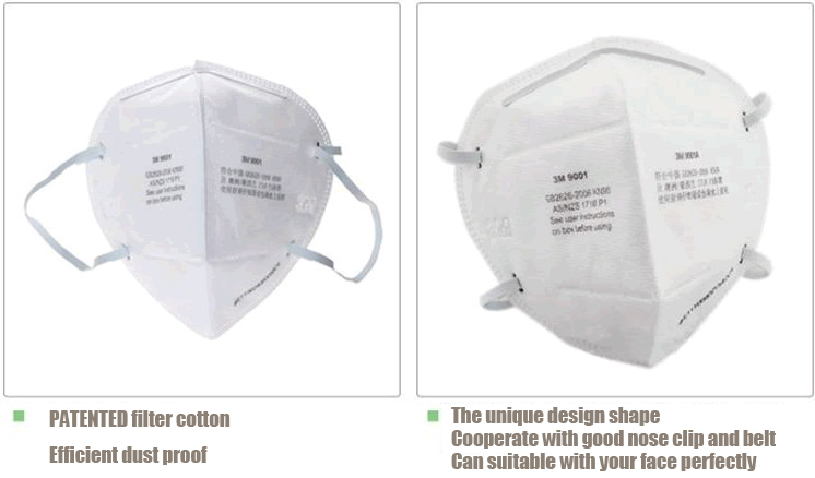 Standard Shipping Tracking >> Buy 3M 9001 N90 Anti PM2.5 Folding Particulate Respirator Comfortable Mask | BazaarGadgets.com
