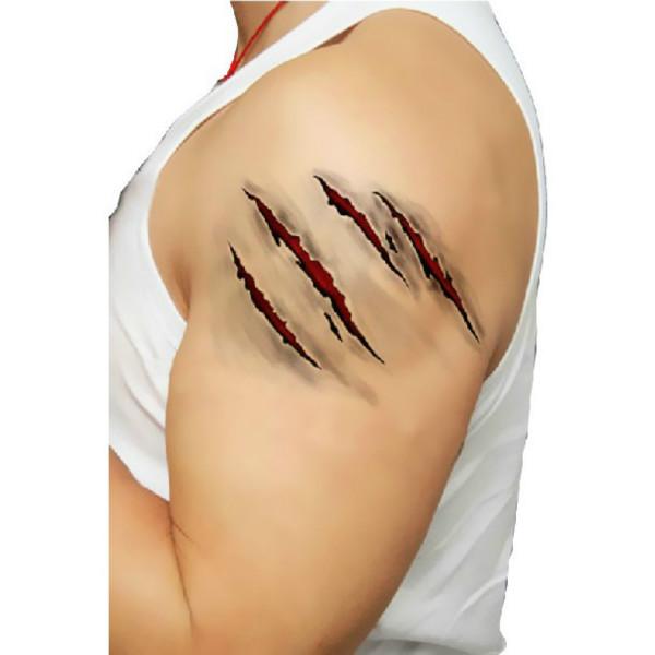 buy scar design waterproof temporary transfer tattoo sticker. Black Bedroom Furniture Sets. Home Design Ideas