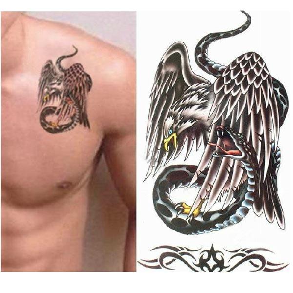 K p tillf llig eagle snake tatuering transfer body art for Tattoo artist job description
