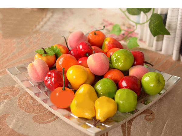 Buy artificial pear apple plastic fruits home party decor for Artificial pears decoration