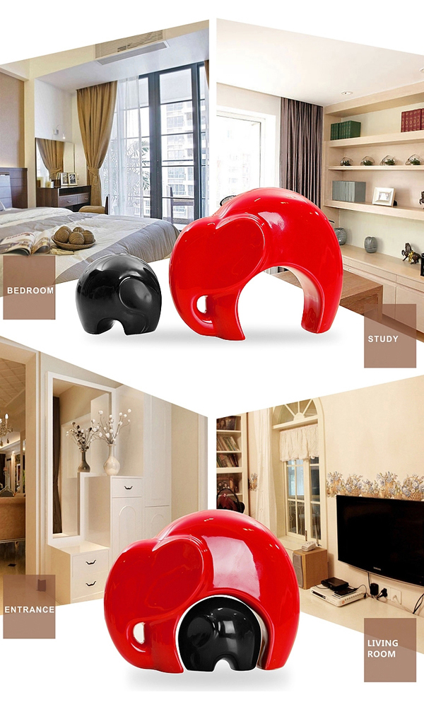 Buy China Ceramics Mother And Son Elephants Ceramic Home