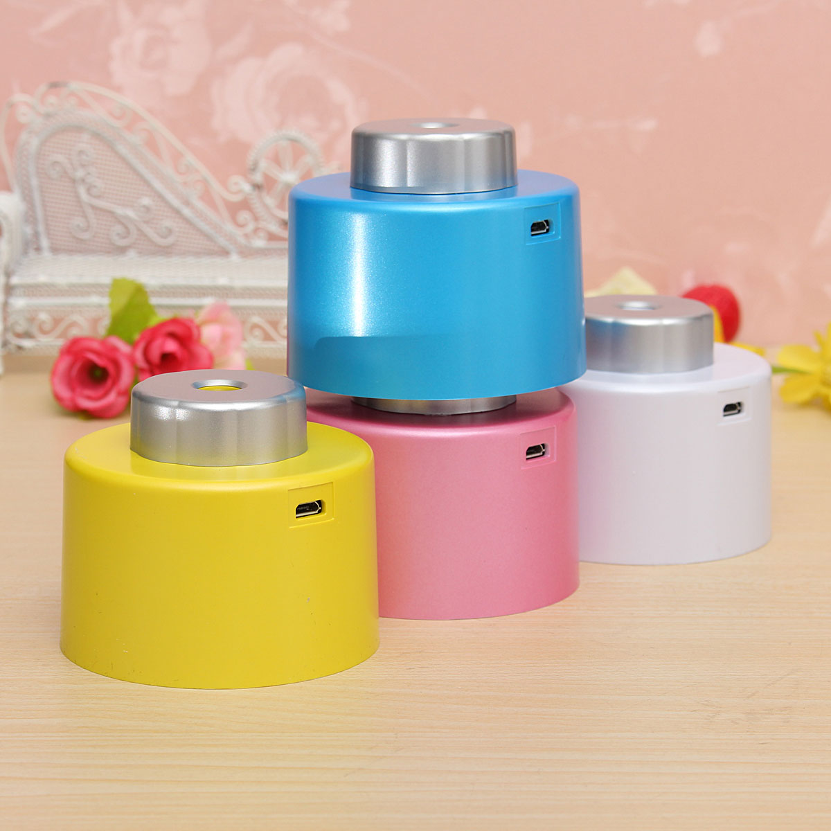 Buy Mini Portable Bottle Cap Air Humidifier with USB Cable for Office  #AE971D
