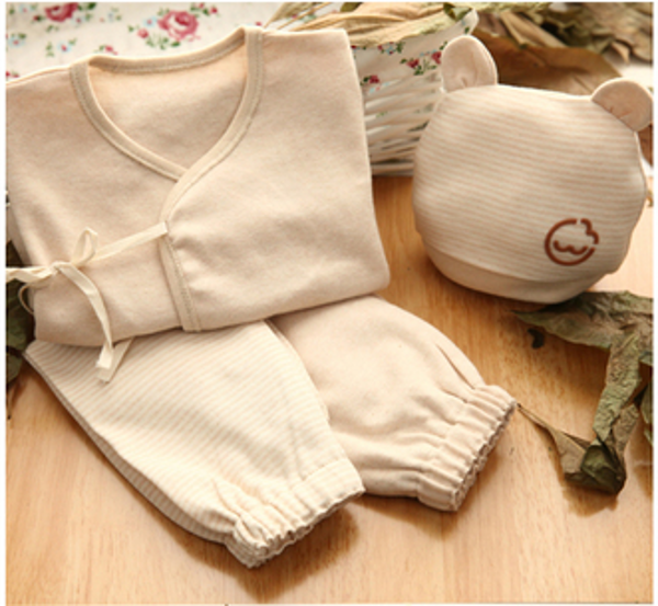 Buy 4pcs Baby Newborn Organic Cotton Clothes Supplies Set ...