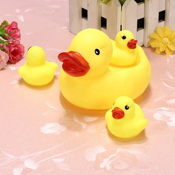 Buy Baby Bathing Toys Water Floating Squeaky Yellow Rubber