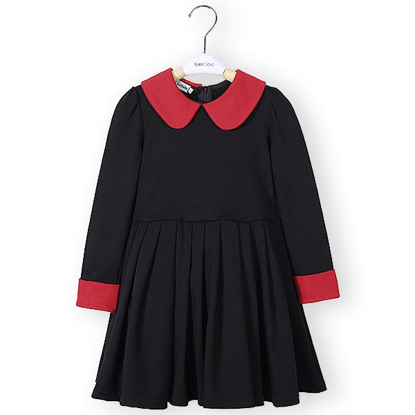 Buy Girls Classic Style Long Sleeve Thick Winter Dress Kids Clothing