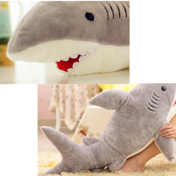 Buy Shark Shaped Plush Doll Animal Bolster Pillow Gift BazaarGadgets.com