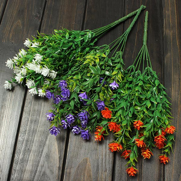 K P 5 Artificiell Eucalyptus Plast Blomster Home Kontor Party Decor