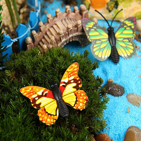 Buy DIY Miniature Multicolor Butterfly Ornaments Potted ...