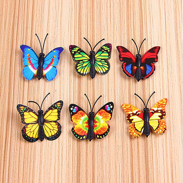 Buy diy miniature multicolor butterfly ornaments potted for Outdoor butterfly ornaments